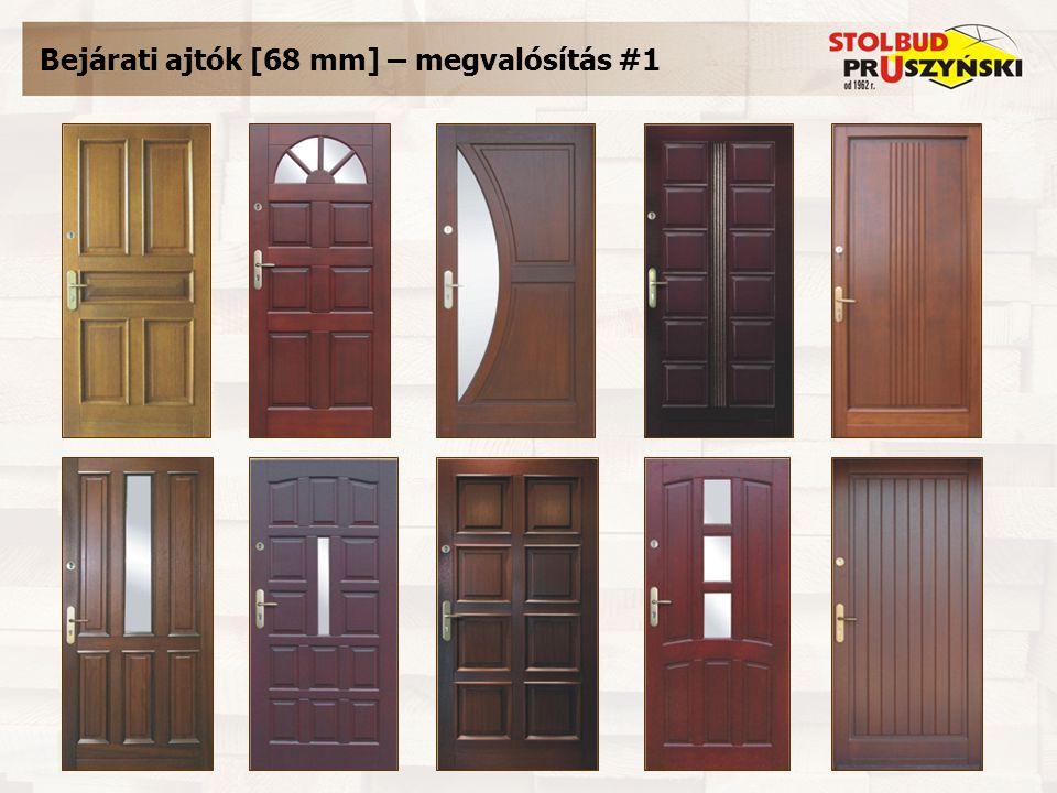 Bejárati ajtók [68 mm] – megvalósítás #1